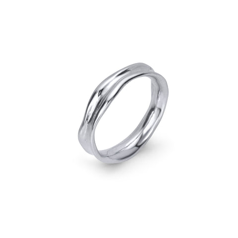 Fluid Nature Band Ring - Silver