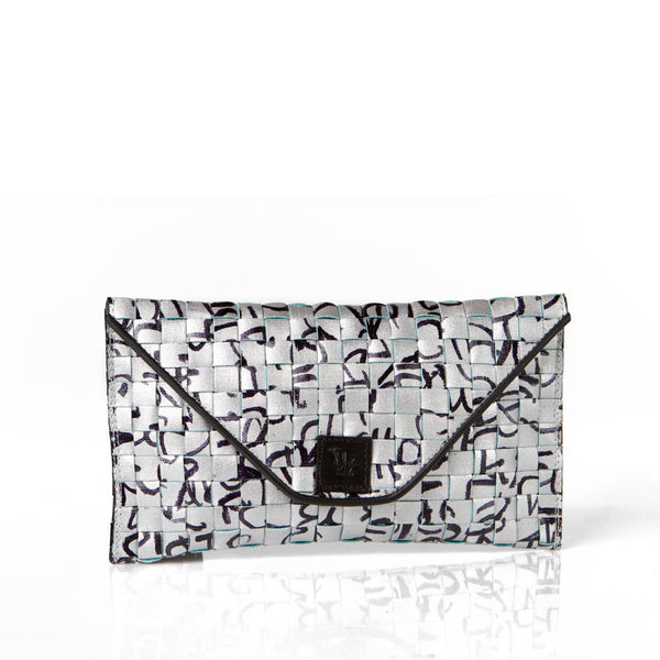 """Journal"" Silver Clutch"
