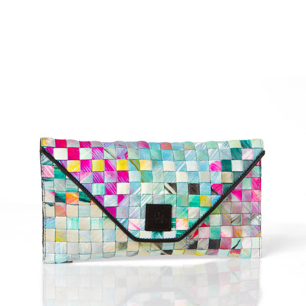 """Multi Plaid"" Clutch"