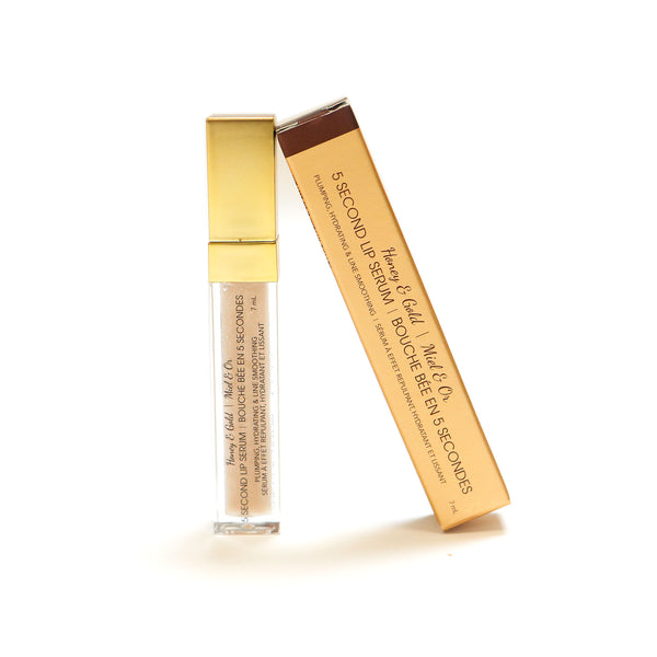 Essentials: Honey and gold Five Second Lip Serum