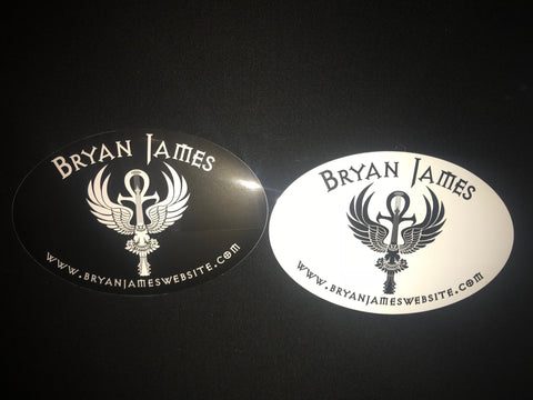 Black and White Logo Stickers