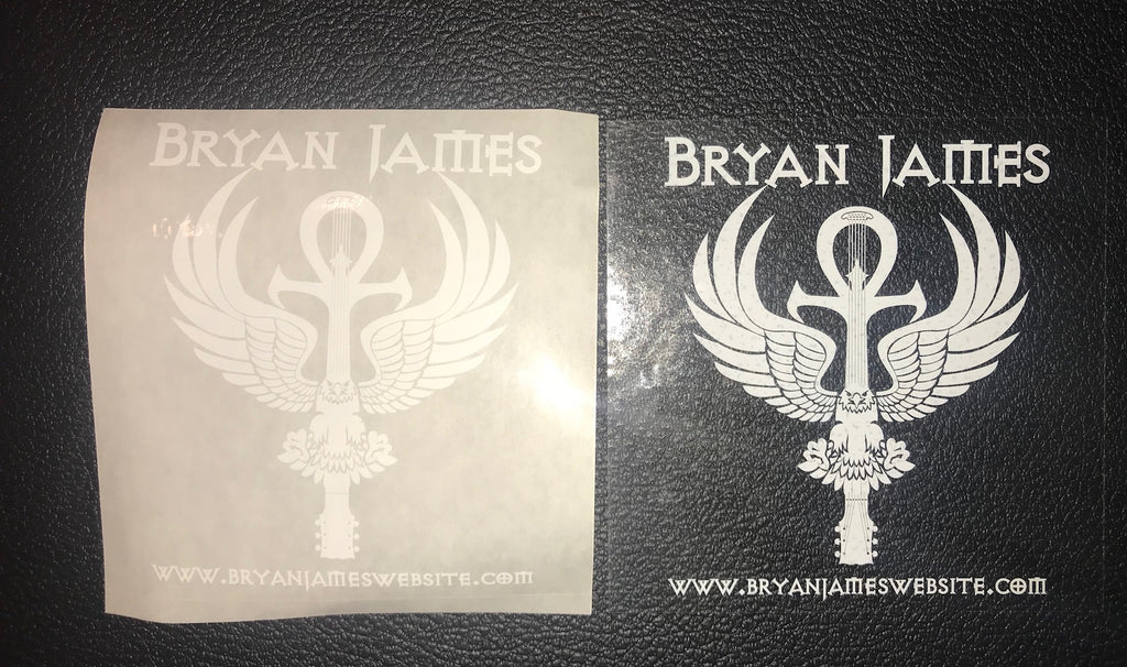 Clear Bryan James Logo Decal