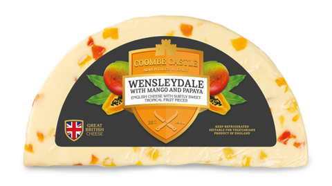 Wenslydale with Mango and Papaya