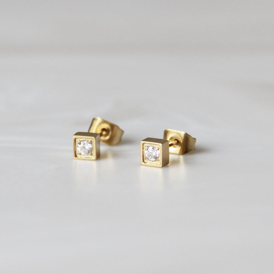SQUARE WITH STONE STUDS