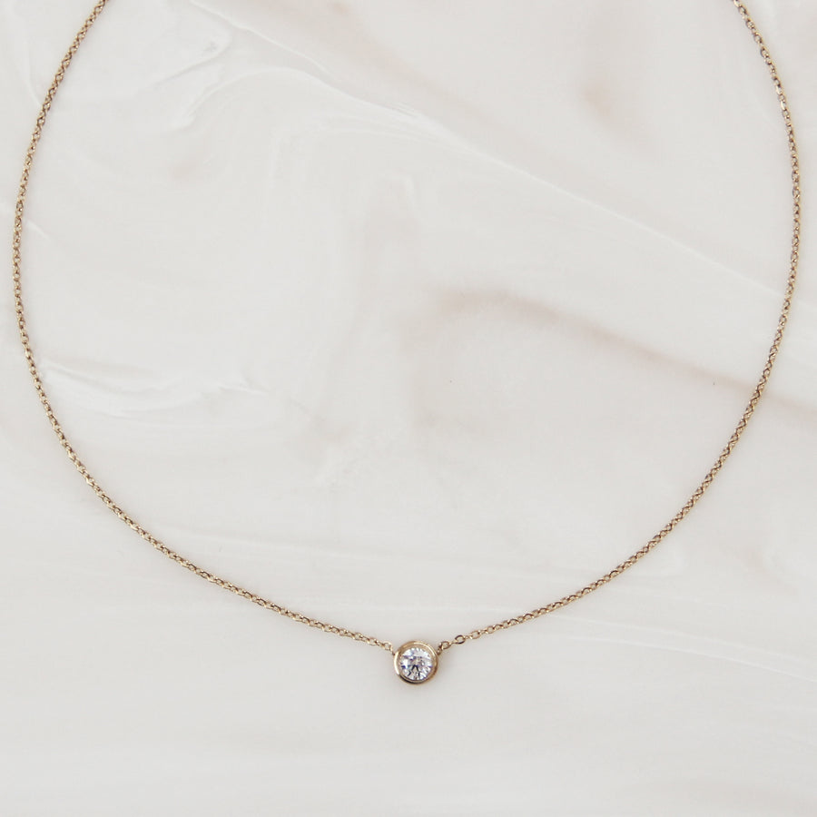 BEZEL STONE CHOKER / NECKLACE