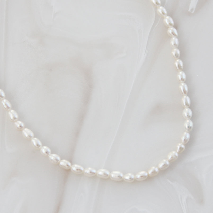 SMALL NATURAL PEARL CHOKER NECKLACE