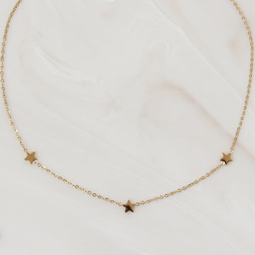 THREE STAR CHOKER / NECKLACE