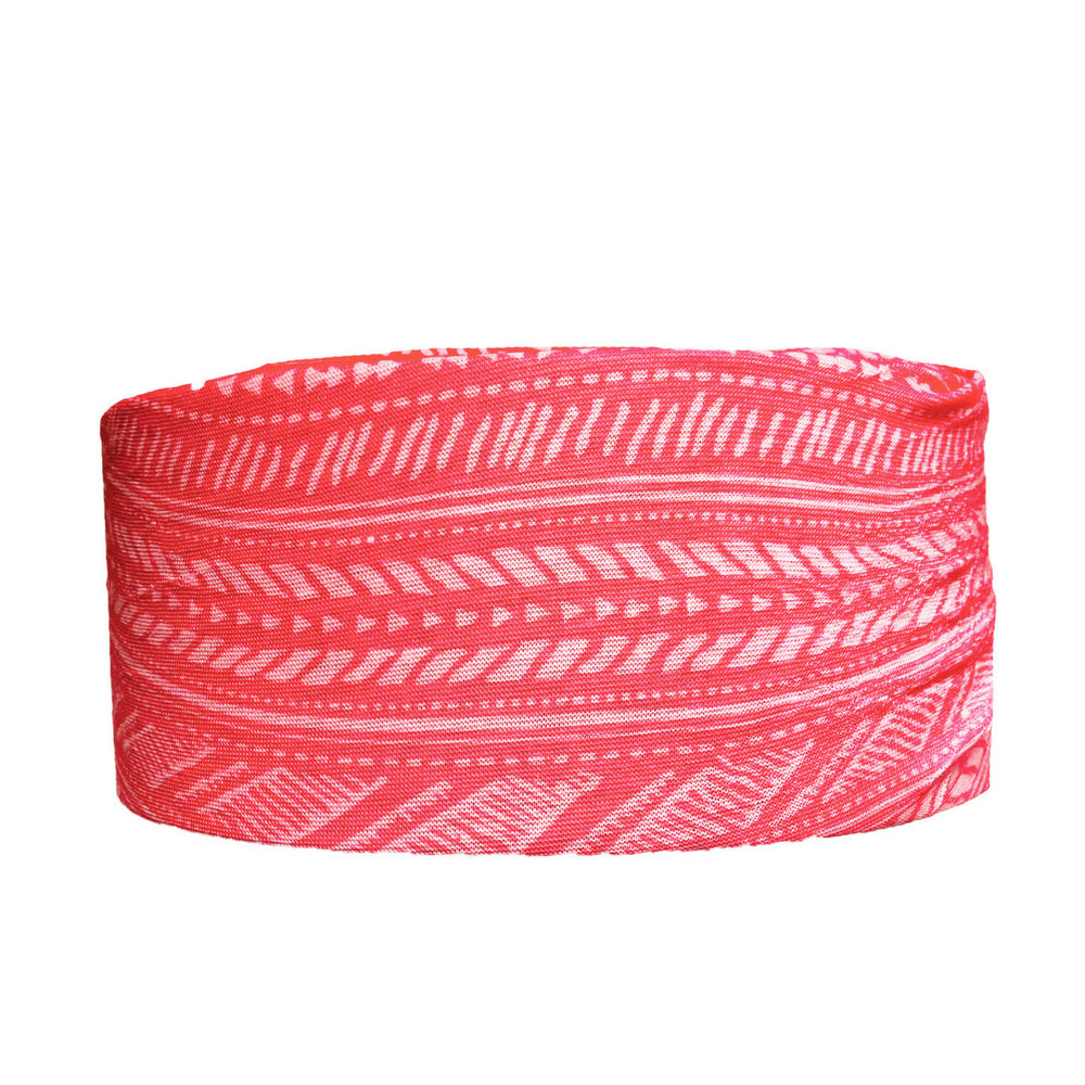 Headbands of Hope - Tube Turban Coral Aztec