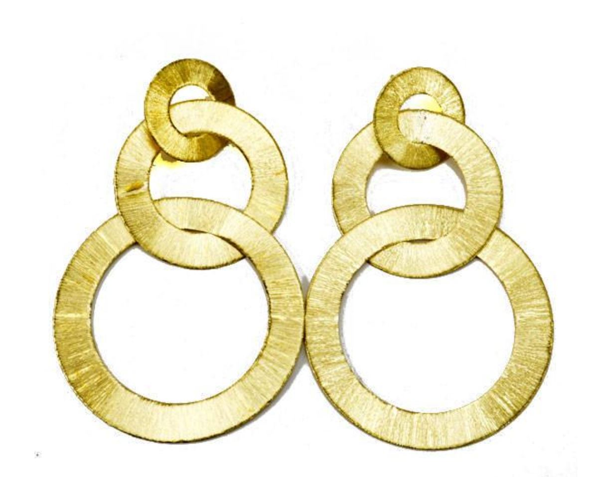 Sheila Fajl Tri Circle Eearrings