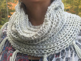 Fringed Fisherman's Rib Cowl Kit