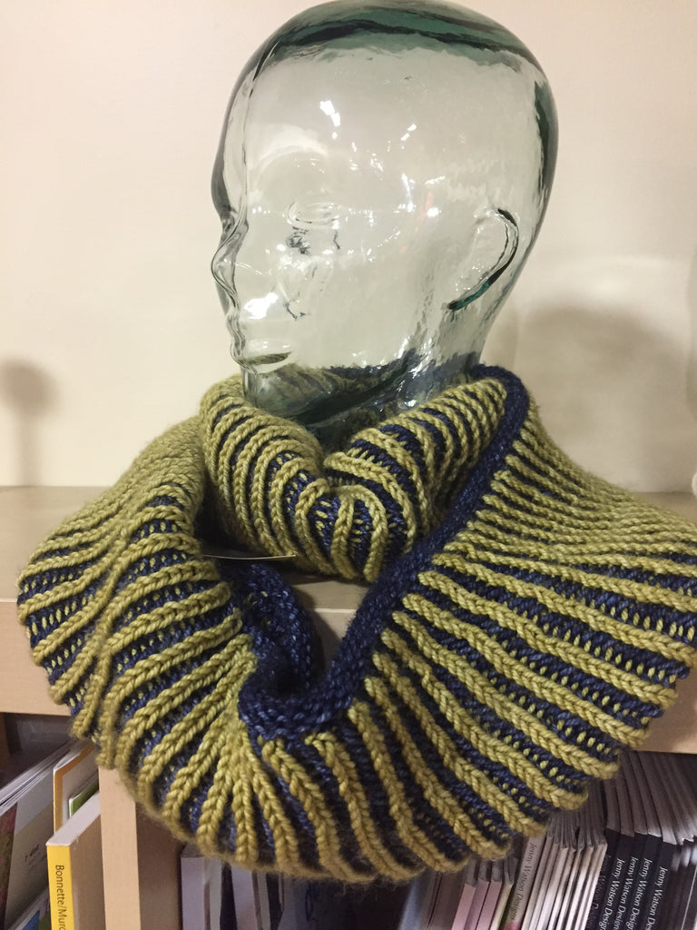 WV Blue and Gold Infinity Wrap Scarf