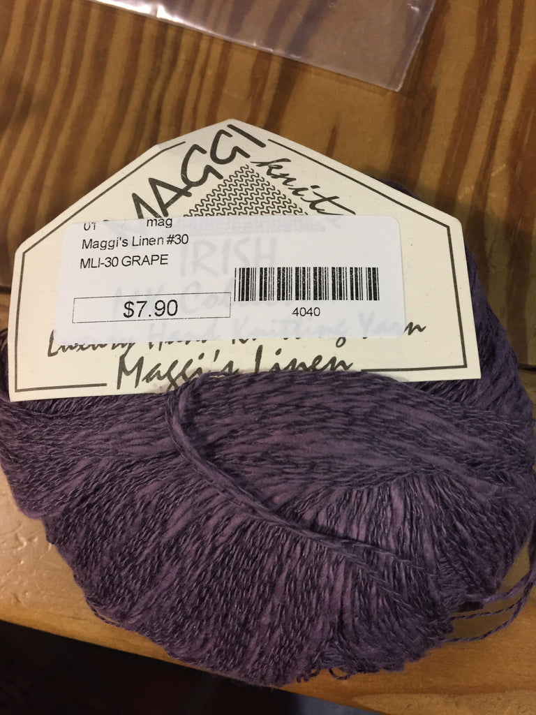 Maggi Knits Multi Linen - Grape