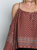 Cut-Out Shoulder Blouse