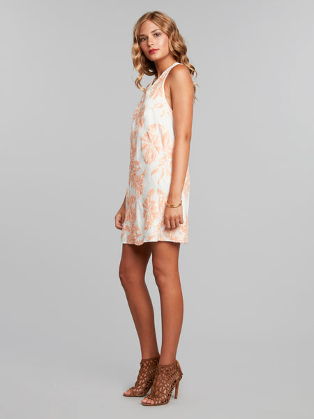 Gaia Floral Sequined Trapeze Dress