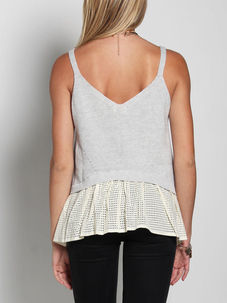 Proteus Knit & Ruffle Camisole Top