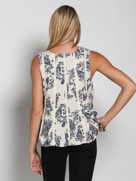 Luna Paisley Top