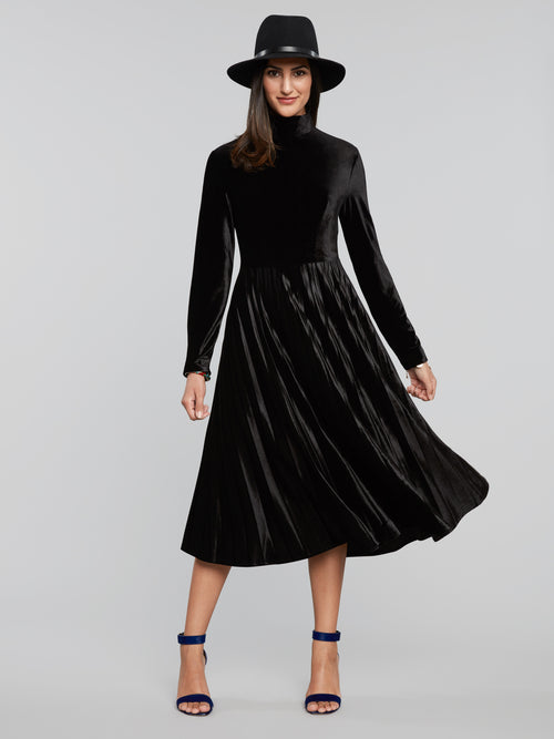 Manda Velvet Swing Dress