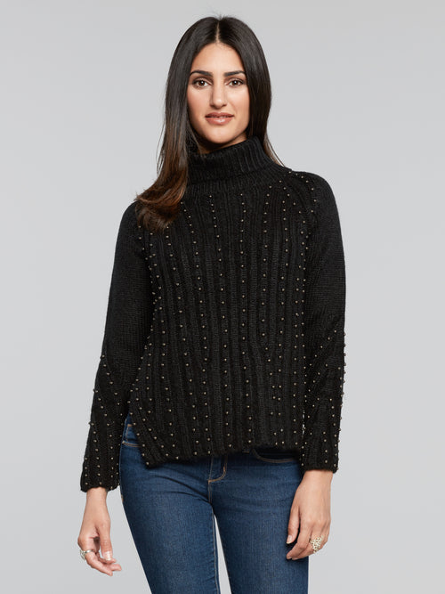 Phina Silver Beaded Sweater