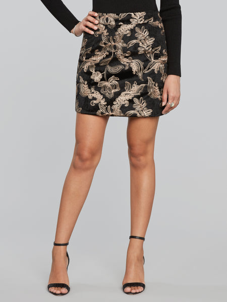 Reem Embroidered Mini Skirt