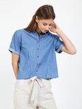 Denim Button Up Tee
