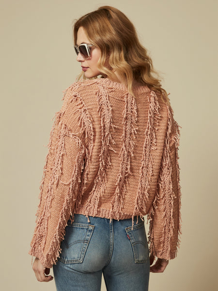 Enza Fringe Sweater