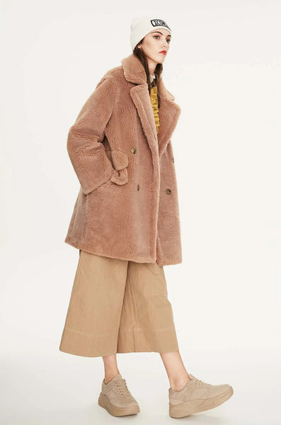 Faux Fur Mid-Length Teddy Jacket