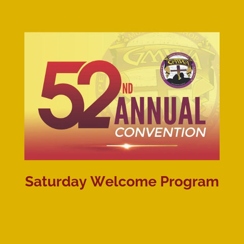 CD WELCOME PROGRAM GMWA 2019
