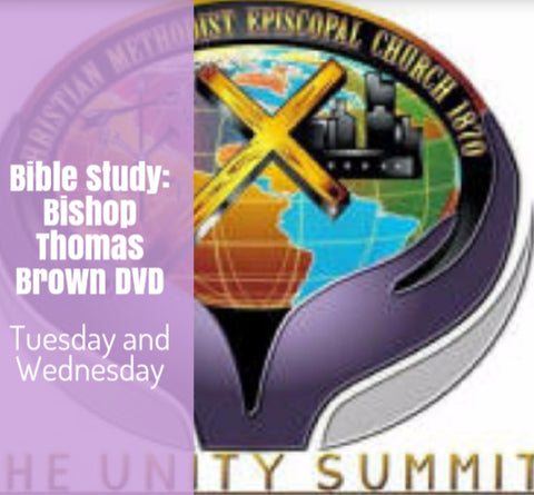 Bible Study Bishop Thomas Brown 2 DVDs