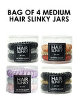 BUY PACKS OF 4 MEDIUM HAIR SLINKY JARS HERE! (3 HAIR SLINKYS PER JAR) 4 COMBOS AVAILABLE