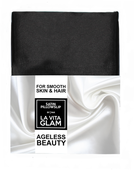 Jet Black Satin GlamPillowslip