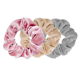 Velvet Scrunchie Light Trio