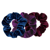 Velvet Scrunchie Dark Trio