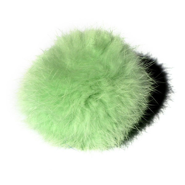 Mint Green Fur Pom Keychain