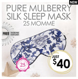 25 MOMME PURE MULBERRY SILK SLEEPMASK