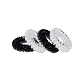 Small Hair Slinky Black and Diamond