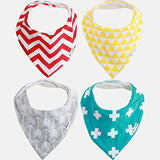 Bandana Bibs for Teething Drool - 4 Pack: Boy, Girl or Unisex