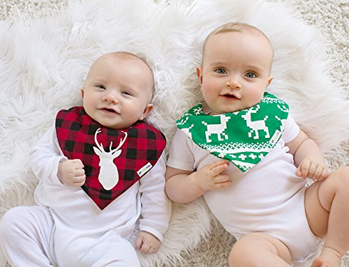 "Ziggy Baby Bandana Bibs for Teething Drool, 2 Pack""Lodge Collection"" Gift Set"