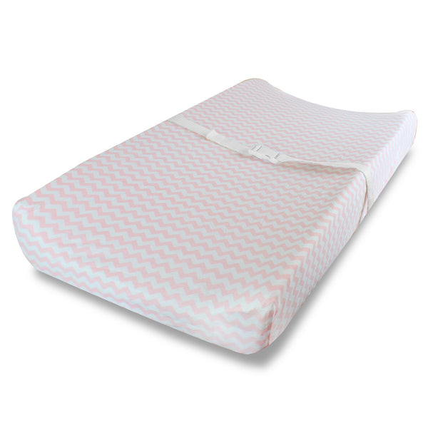 Changing Pad Covers, Cradle Bassinet Sheets Fitted Jersey Cotton (2 Pack) Pink, White