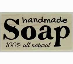 "100% All Natural Handmade Soap Stamp - 3"" X 1.5"" - Stamptopia"