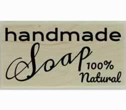 "100% Natural Handmade Soap Custom Stamp - 3"" X 1.5"" - Stamptopia"