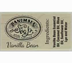 "100% Natural Handmade Soap Personalized Stamp - 3"" X 1.5"" - Stamptopia"