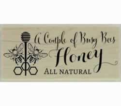"A Couple Of Busy Bees Honey Stamp - 2"" X 1"" - Stamptopia"