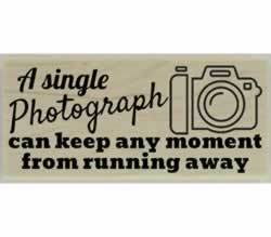 "A Single Photograph Rubber Stamp - 2.5"" X 1"" - Stamptopia"