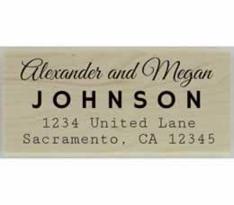 "Alexander Calligraphy Return Address Stamp - 2.5"" X 1.25"" - Stamptopia"