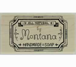 "All Natural Handmade Soap Custom Stamp - 1.5"" X 0.75"" - Stamptopia"