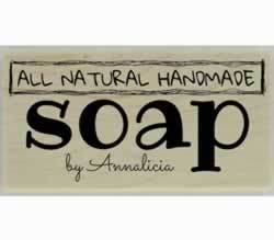 "All Natural Handmade Soap Stamp - 3"" X 1.5"" - Stamptopia"