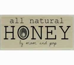 "All Natural Honey Rubber Stamp - 2"" X 1"" - Stamptopia"