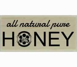 "All Natural Pure Honey Rubber Stamp - 2"" X 1"" - Stamptopia"
