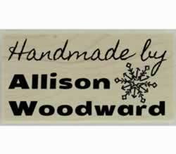 "Allison Handmade By Custom Stamp - 1.5"" X 0.75"" - Stamptopia"