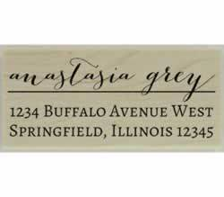 "Anastasia Custom Return Address Stamp - 2.5"" X 1.25"" - Stamptopia"